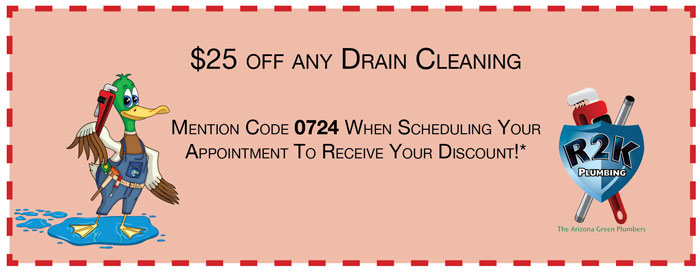 R2K Plumbing and Drain coupon and special 0724