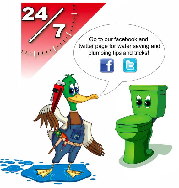 R2K Plumbing twitter and Facebook message